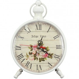 Reloj de Mesa Blanco Antique Roses