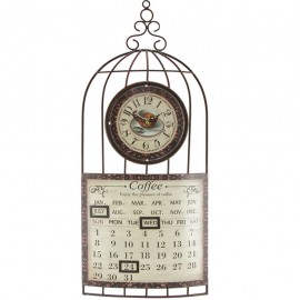 Reloj de Pared Calendario Café